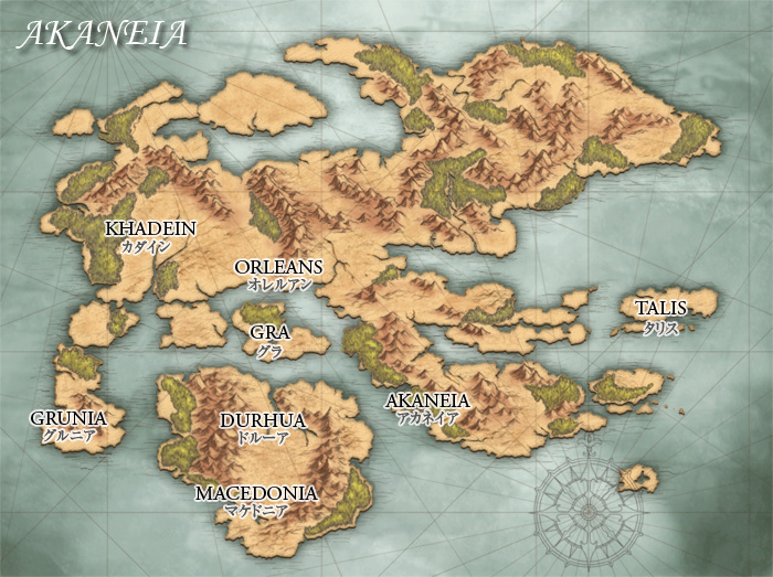Akaneia World Map