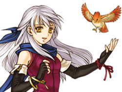 Micaiah, also known as the silver-haired maiden or Priestess of Dawn, is the main character for the first part of the game.