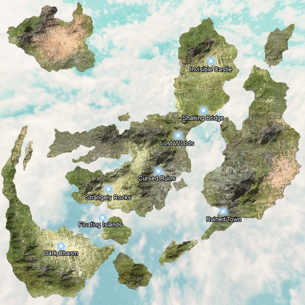 Image of: World Map Invisible Serenes Forest