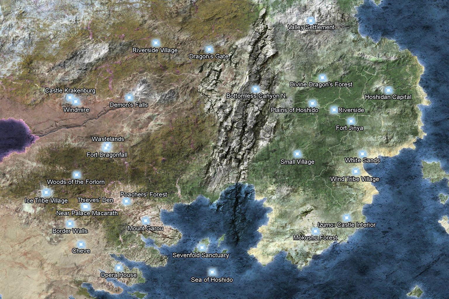 hoshido world map