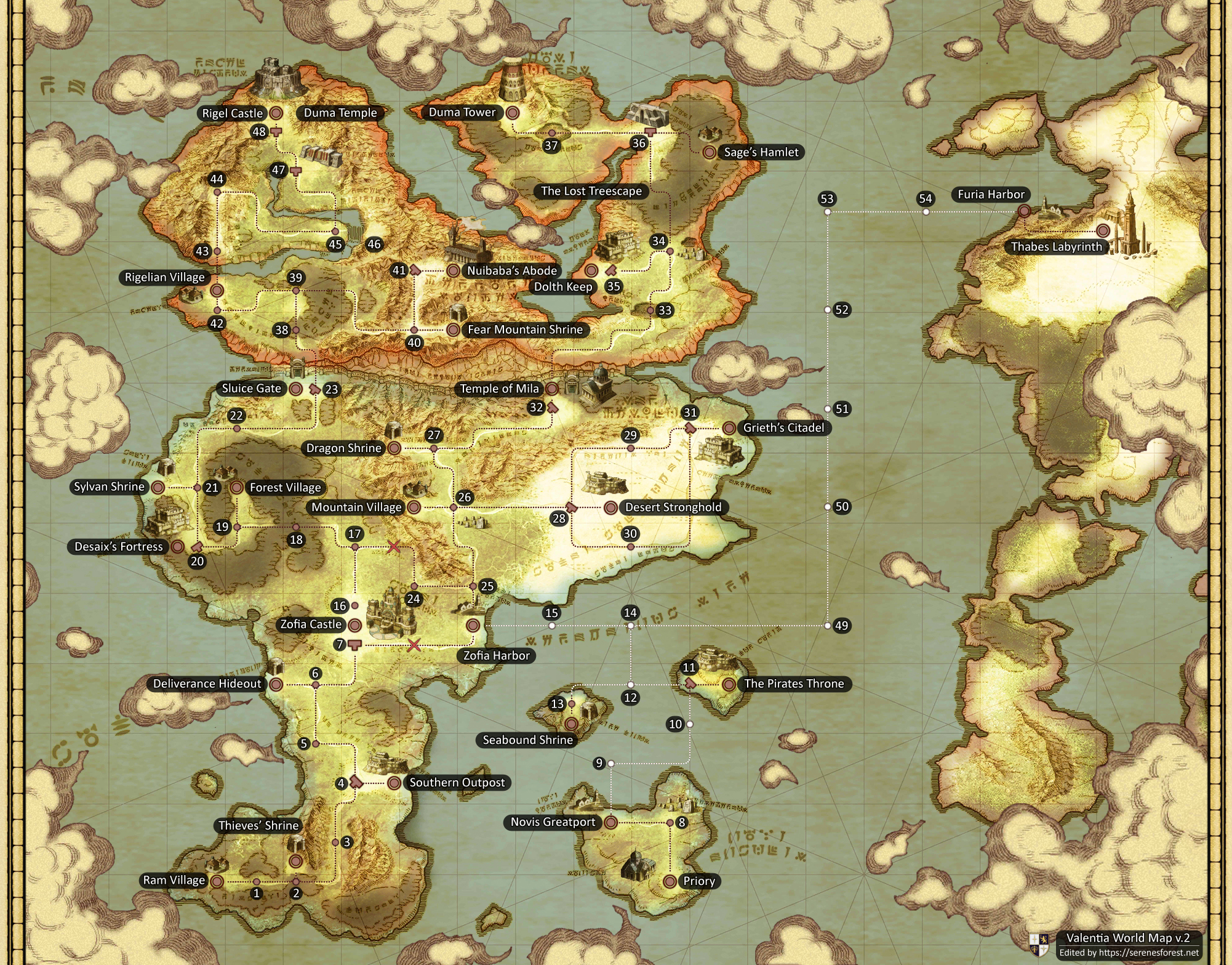 World Map   Serenes Forest