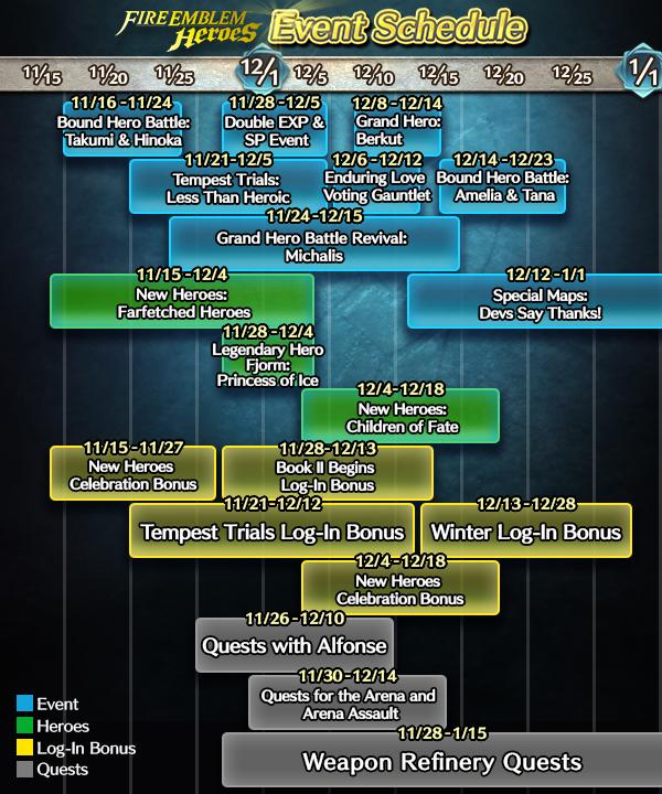 Swgoh Events Calendar.Heroes New Event Calendar For November And December Serenes Forest