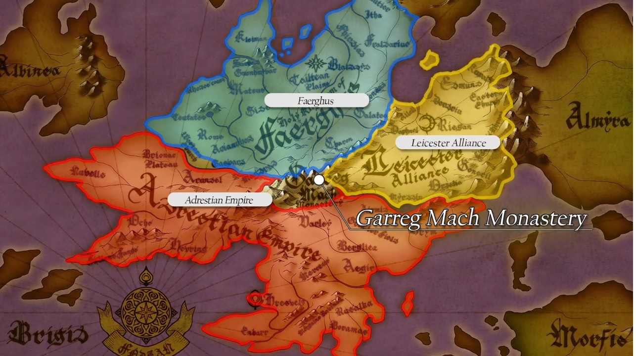 Brainstorming Fire Emblem Three Houses missing/future revealed plotpoints. Fodlan-territories